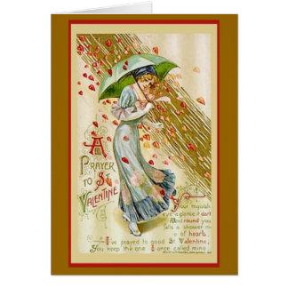 Valentinsgruß-Gebet Karte
