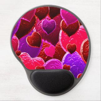 Valentinsgruß-Herz-Collage Gel Mouse Matte