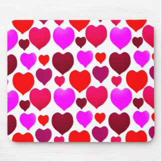 Valentinsgruß-Herz-Muster Mousepad