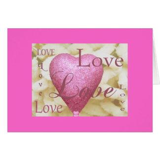 Valentinsgruß-Karten-Herz-Rosa Karte