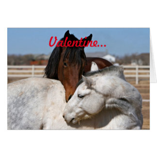 Valentinsgruß-Pferde Karte