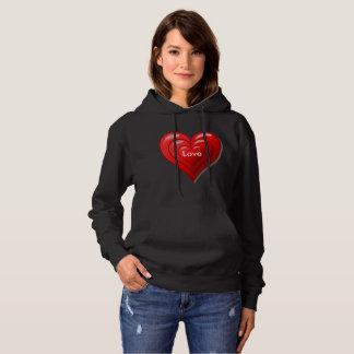 Valentinsgruß-rotes Herz-Sweatshirt Hoodie