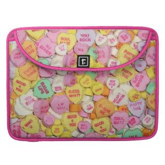 Valentinsgruß-Süßigkeits-Herzen Sleeve Für MacBooks
