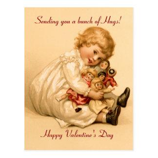 Valentinsgruß-Umarmungen Postkarte
