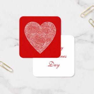 Valentinsgrüße Quadratische Visitenkarte