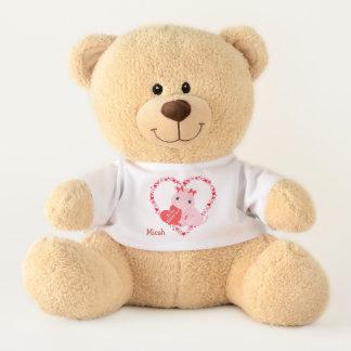Valentinsgrußhippopotamus-Rot-Herzen Teddy