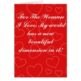 Valentinstag-Gruß-Karte - Maße Karte