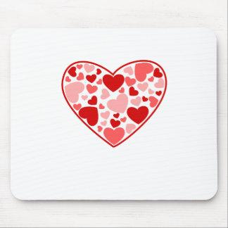 Valentinstag-Herzen im Herzen Mauspad