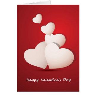 Valentinstag-Hintergrund Grußkarte