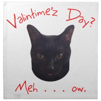Valentinstag-Katze Meh Stoffserviette