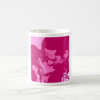 Valentinstag-Kuss Kaffeetasse