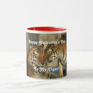 Valentinstag-Tiger Tasse