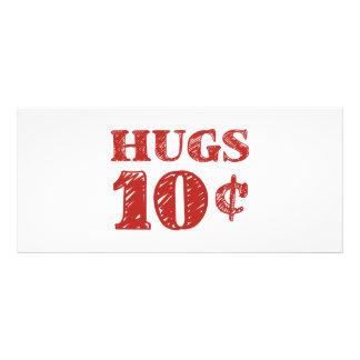 Valentinstag umarmt 10 Cents Werbekarte