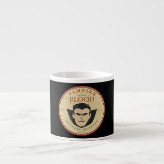Vampire-Blut-Vintager Halloween-Aufkleber Espressotasse