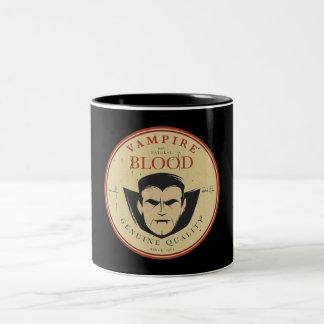 Vampire-Blut-Vintager Halloween-Aufkleber Zweifarbige Tasse