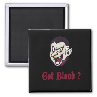 Vampire Halloween erhielt Blut-Kühlschrankmagnet Quadratischer Magnet