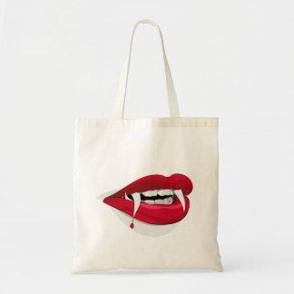 Vampire-Mund-Leckereitasche Budget Stoffbeutel