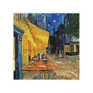 Van Gogh - Café-Terrasse Holzdruck