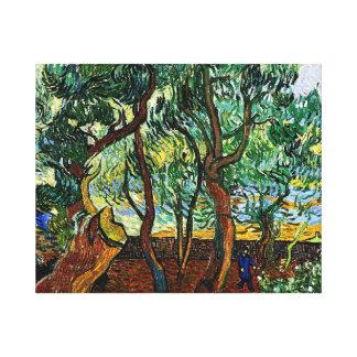 Van Gogh - der Garten des Asyls Gespannter Galeriedruck