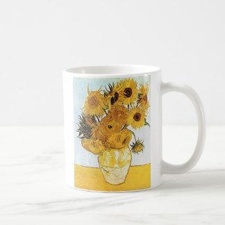 Van Gogh der Vase mit 12 Sonnenblumen Kaffeetasse