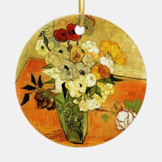 Van Gogh Gemälde-wunderliche Blüten-Blumen-Reben Rundes Keramik Ornament