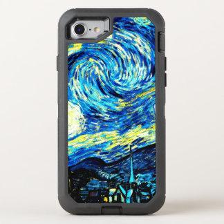 Van Gogh - sternenklare Nacht OtterBox Defender iPhone 8/7 Hülle