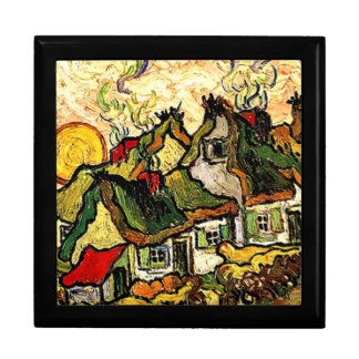 Van Gogh: Thatched Hütten im Sonnenschein Schmuckschachtel