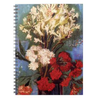 Van Gogh - Vase mit Gartennelken und anderen Spiral Notizblock