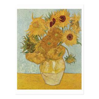 Van Gogh - Vase mit zwölf Sonnenblumen (1888) Postkarte