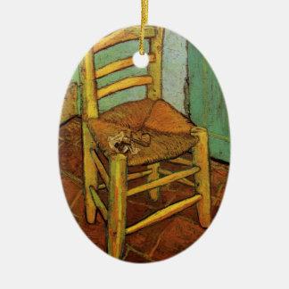 Van Gogh; Vincents Stuhl mit Rohr, Vintage Kunst Keramik Ornament