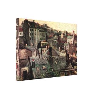 Van- Goghansicht der Dächer und der Rückseiten der Leinwanddruck