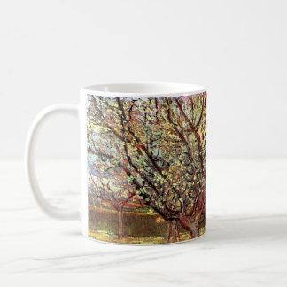 Van- Goghaprikosen-Baum in der Blüte, Vintage Tasse