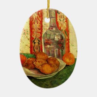 Van- Goghdekantiergefäß-Zitronen-Platte, Vintages Keramik Ornament