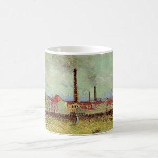 Van- Goghfabriken bei Asnieres, Vintage feine Tasse