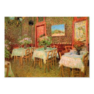 Van- Goghinnenraum des Restaurants, Vintage feine 12,7 X 17,8 Cm Einladungskarte