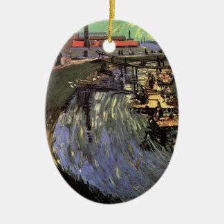 Van- Goghkanal mit dem Frauen-Waschen Keramik Ornament