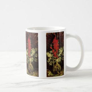 Van- GoghKunst-Vase mit den Gladioli und Kaffeetasse