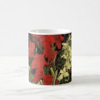 Van- GoghKunst-Vase mit den Gladioli und Tasse