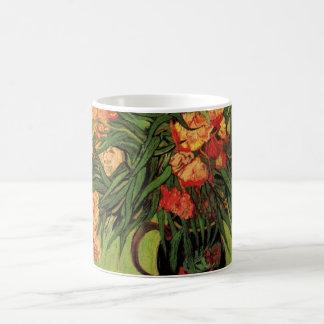 Van- Goghschöne Kunst, Vase mit Oleandern und Kaffeetasse