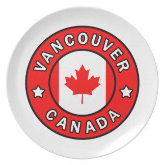 Vancouver Kanada Melaminteller