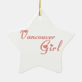 Vancouver-Mädchen Keramik Stern-Ornament