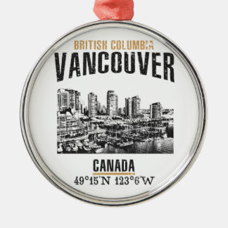 Vancouver Silbernes Ornament