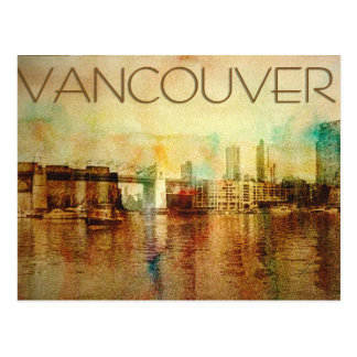 Vancouver-Wasser-Farbe Postkarten
