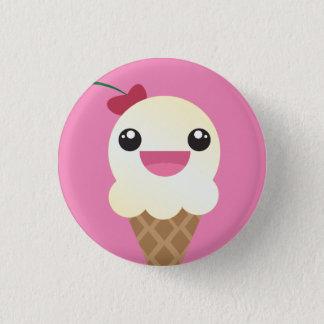 Vanilla Icesahneknopf Runder Button 2,5 Cm