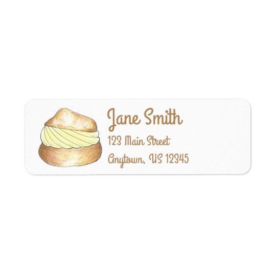 Vanille-Sahnebeutel-personalisiertes Kleiner Adressaufkleber