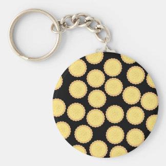 Vanillepudding-Törtchen-Muster Standard Runder Schlüsselanhänger