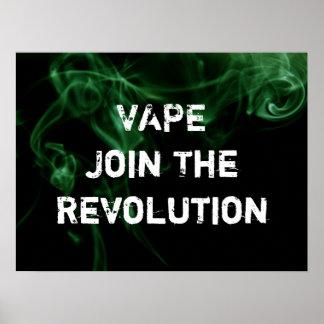 Vape Revolutions-Grün-Rauch-erstklassiger Poster
