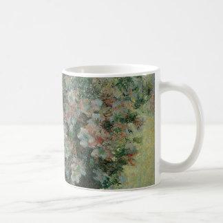 Vase Blumen durch Claude Monet, Vintage feine Kaffeetasse