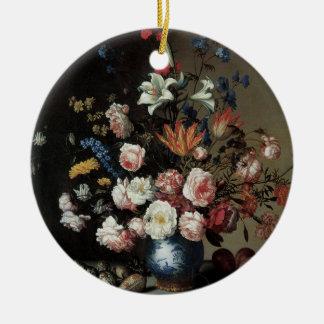 Vase Blumen durch ein Fenster, Balthasar van Der Keramik Ornament