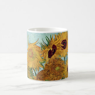 Vase mit zwölf Sonnenblumen durch Van Gogh Kaffeetasse